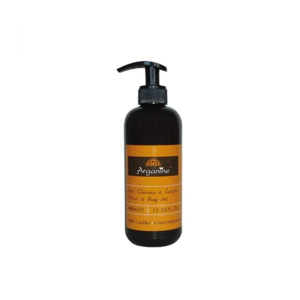 Gel douche et shampoing arganine 2en1 x400ml 100% Sans colorants, ni parabènes.