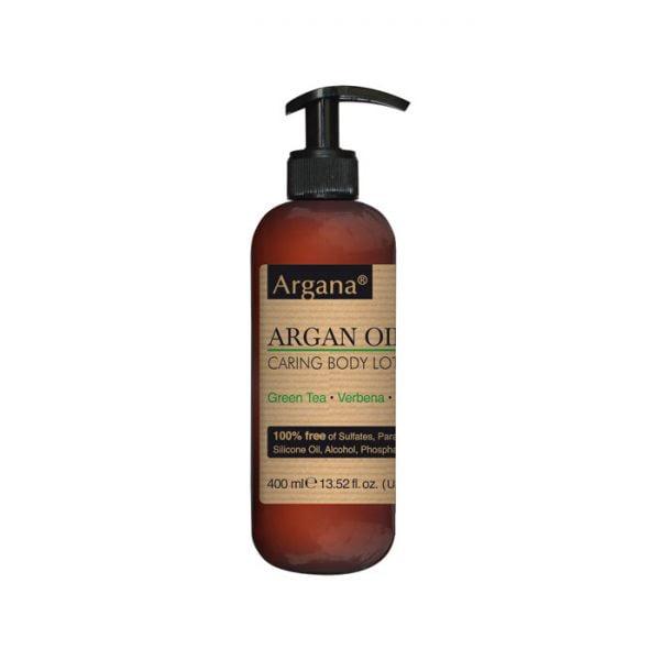Lait corporel argana 100% sans sulfates, parabènes, Colorants, silicones, alcool, phosphates, huiles minérales Pour tous types de peau 400 ml