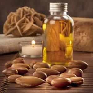 image graine et bouteille huile argan