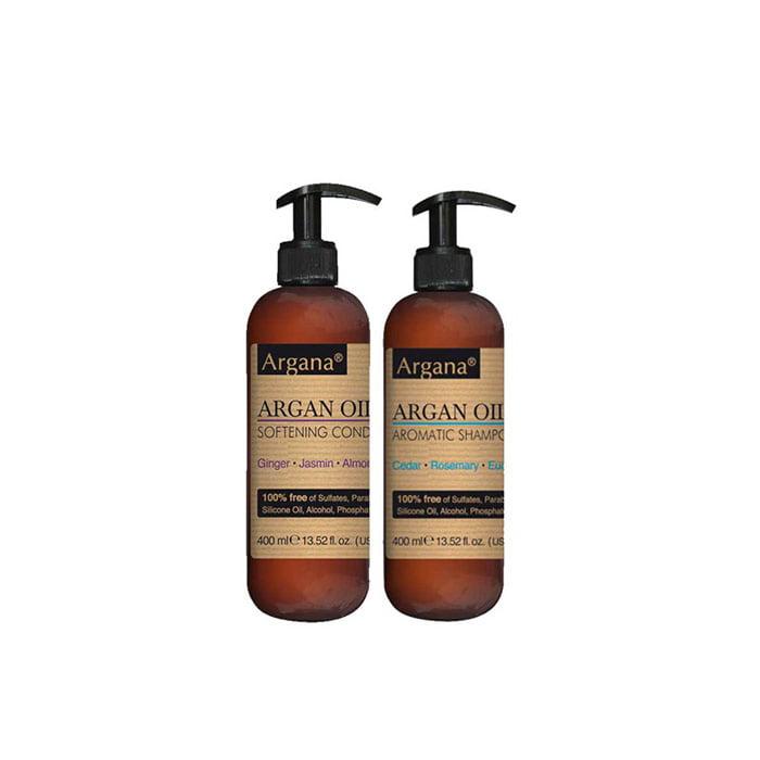 Lot produits argana shampoing & après shampoing 2x400ml100% SANS SULFATES, NI PARABENS, NI COLORANTS, NI SILICONE, NI ALCOOL, NI PHOSPHATES, NI HUILE MINÉRALE.